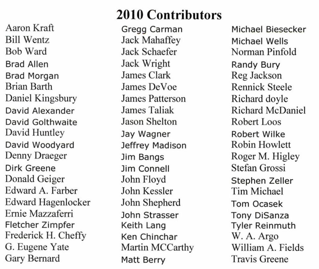 2010 Contributors