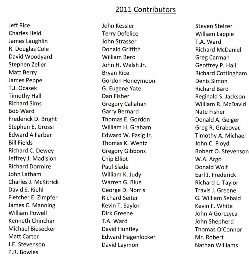 2011 Contributors