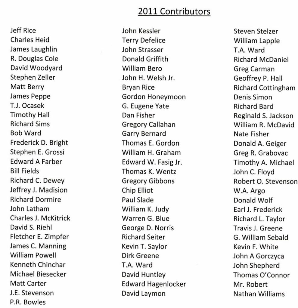 2011 Contributors